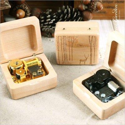 Sweet Garden, 生日 情人 好友 親子禮物 木製掀蓋 精緻小巧 自然 典雅 楓木精雕音樂盒(可選曲)