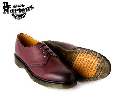 { POISON } Dr. Martens 3孔皮鞋式短靴1461 Antique Temoerley 煙燻櫻桃紅