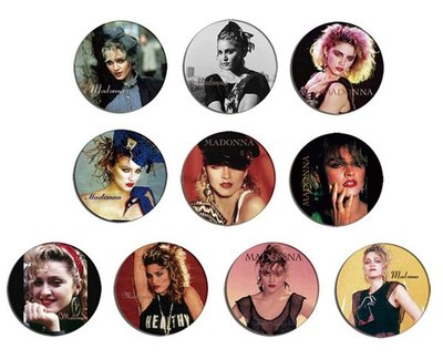 現貨 MADONNA 80's Portrait pinback BADGE SET 3b 襟章 徽章 (一套10個)
