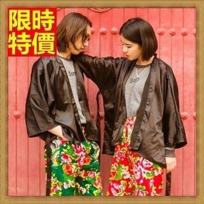 和服外套 和風防曬衣(單件)-民族風刺繡日式復古罩衫小外套68af40[獨家進口][米蘭精品]