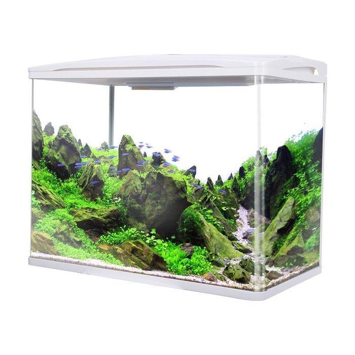 現貨/魚缸水族箱客廳水草缸迷你缸熱帶魚玻璃小魚缸家用生態懶人金魚缸50SP5RL/ 最低促銷價