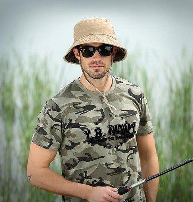 ZIHOPE 漁夫帽男遮陽防曬夏天戶外透氣大頭圍大碼盆帽奔尼帽釣魚太陽帽子ZI812