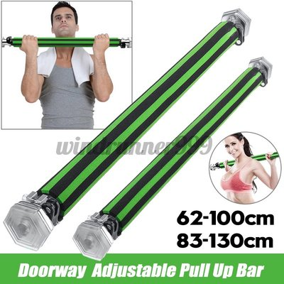 Adjustable Doorway Chin Pull Up Bar Workout Body Exercise君君の店ZH0