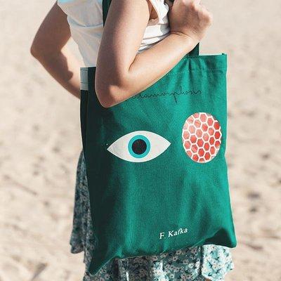 ☆.sun小鋪_ OUT OF PRINT 大學生上課包設計感托特包帆布包女夏休閒單肩包袋C5F3