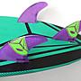 Airush 衝浪板尾鰭 適用FCS 系統 1組3片 附key 蜂巢結構 尾舵 鰭片 魚鰭