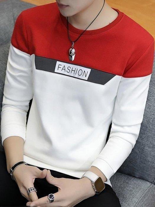BELOCO 男士長袖T恤秋季新款圓領連帽T恤潮流打底衫BE655