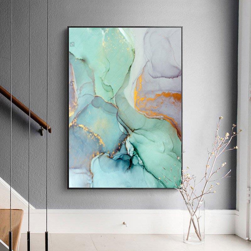 現代簡約抽像三聯水彩抽象藝術裝飾畫畫芯微噴打印畫心畫布有框畫(3款可選)