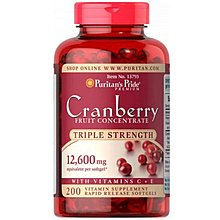 Puritans Pride原裝美國進Cranberry Fruit Concentrate 12600MG200粒