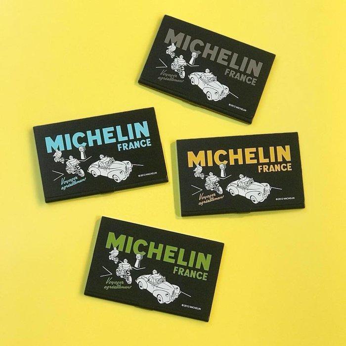(I LOVE樂多)日本進口 MICHELIN 米其林 名片盒 共4色供您選擇