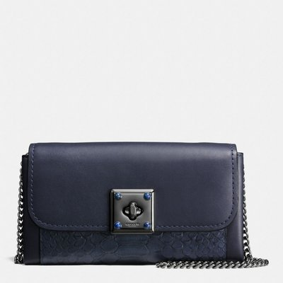 COACH 53994 DRIFTER WALLET IN EXOTIC EMBOSSED LEATHER 斜背包