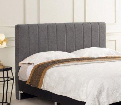 【DH】商品編號G687-2商品名稱琳多5尺床頭片/灰色布(圖一)不含床底。備有六尺可選。主要地區免運費