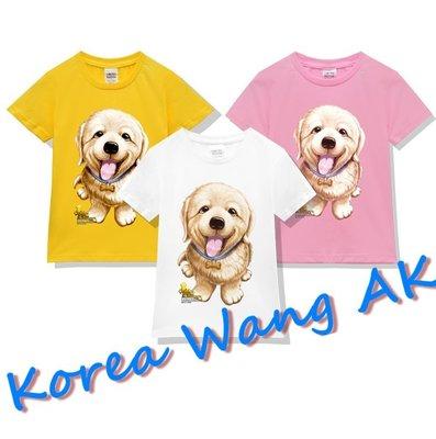 Korea Wang AK ~(預購)台灣原創獨家設計100%純棉 限定版 小黃金獵犬兒童青少年版T 六款【P026】