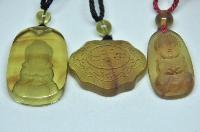 緬甸琥珀 棕紅珀 紫羅蘭珀 金棕珀 金棕珀小精品(寶寶鎖寶寶佛)三個1000