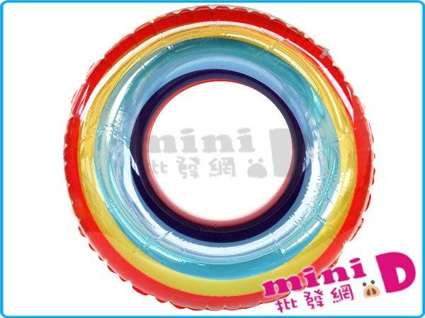 (90cm)彩虹泳圈  自行充氣 戲水 夏天 造型泳圈 玩具批發【mini D】[7144250002]