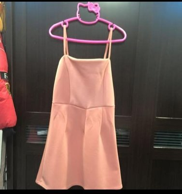 ~Green~Shop 寶貝衣櫃~粉色洋裝 細肩洋裝 100含運