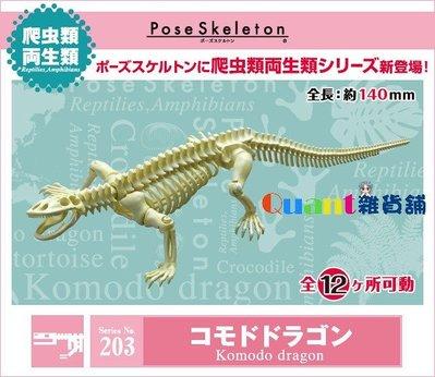 ∮Quant雜貨舖∮┌日本盒玩┐RE-MENT 骷髏 Pose Skeleton 兩棲爬蟲類 NO.203 科摩多巨蜥