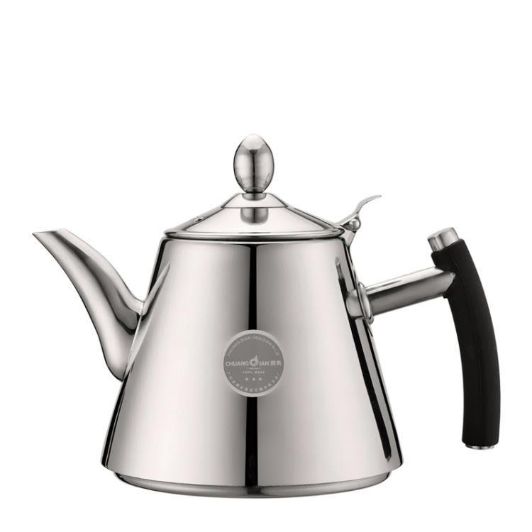 茶具煮水壺304不銹鋼水壺電磁爐電熱壺燒水壺煮泡茶壺加厚平底壺XDY