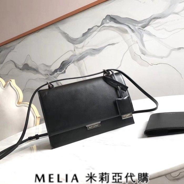Melia 米莉亞代購 歐洲代購 Saint Laurent YSL 18ss 8月新品 郵差包 素面牛皮 包裝超齊全