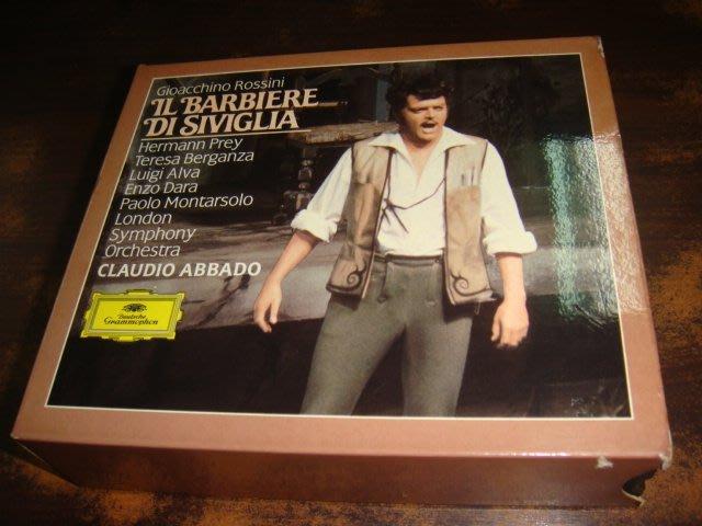 好音悅 全銀圈 Abbado 阿巴多 Rossini 羅西尼 塞爾維亞理髮師 LSO DG 2CD 德版 無IFPI