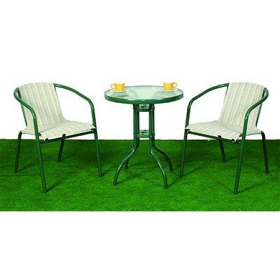 【588團購網】半鋁玻璃紗網桌椅組 一桌二椅 咖啡廳 餐廳 中庭 民宿 農場 鋁合金 戶外桌椅
