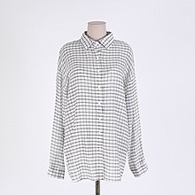 兩件式兩件套韓風 可調節肩帶V領背心+格紋長袖襯衫套裝 艾爾莎【TGK6858】