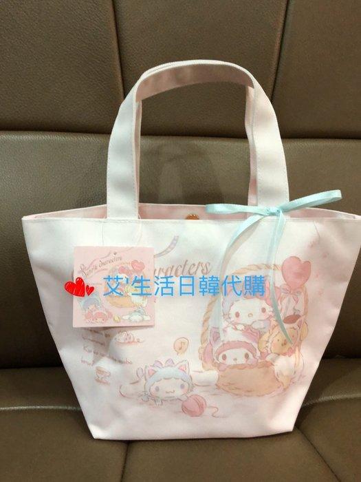 代購現貨  日本三麗鷗 變裝貓咪大集合帆布扣式手提袋