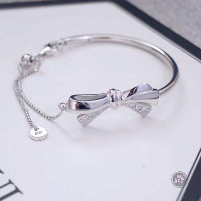 【Jia' s】潘潘風格蝴蝶結拉式純銀手環手鍊S925。正生純銀