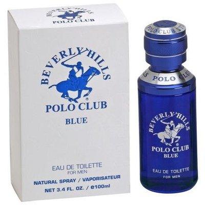 限量 正品 馬球俱樂部3.4盎司男士淡香水噴霧 Beverly Hills Polo Club Blue