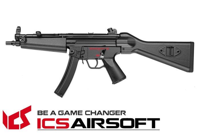 【翔準軍品AOG】ICS CES A4(黑)固定托 MP5 衝鋒槍 電動槍 全金屬 生存遊戲 ICS-03