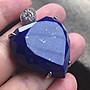 Crystal~B17 天然 心型 青金石 銀墜,實品超級美....優惠只給第一標~