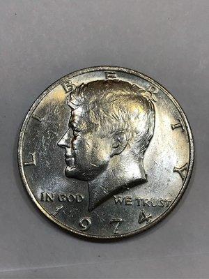 美國 美金 硬幣 1974/1980/1992/1995年美國 甘迺迪總統 1/2美元 50分 錢幣 藝術品 收藏品