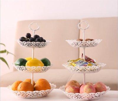 家用果盤三層水果拼盤 零食盤多 客廳糖果盤瓜子點心托盤