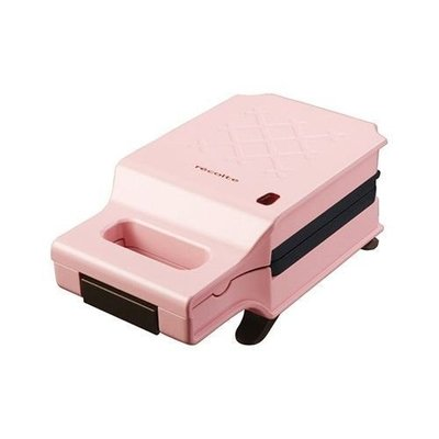 recolte 日本麗克特 Quilt 格子三明治機 粉紅色