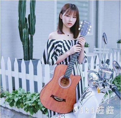 38寸民謠木吉他單板初學者新手入門學生女男通用吉他樂器 nm3473