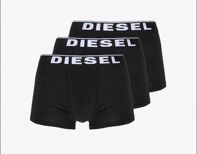 Diesel 男款 3Pack All-Timers Trunks C/O 四角褲 內褲 三件裝 黑白基本款 SM 現貨