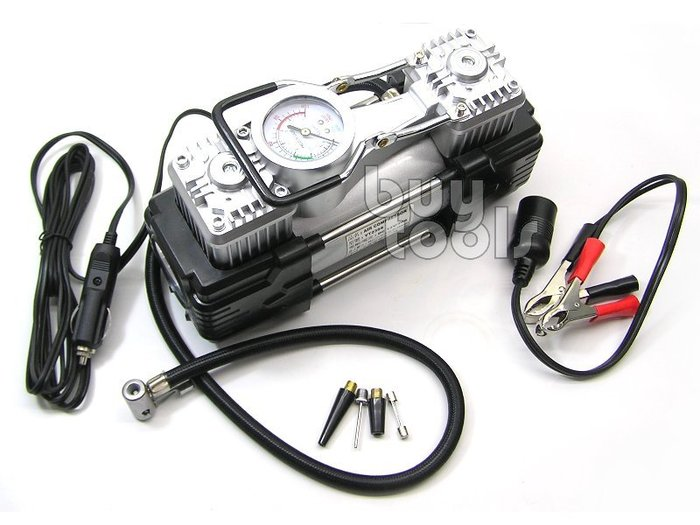 BuyTools-車載12V氣動打氣機/12V雙缸空壓機/充氣床充氣船電動打氣機/Off road隨車安全配備「含稅」