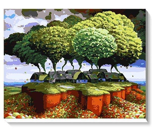 八號倉庫 DIY手繪風景人物花卉數字油畫 40x50【1T112X670】111下標區
