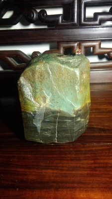 石之華攻石山房-大陸綠彩陶石.疊翠方山.11.5*10*7cm