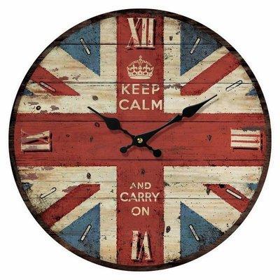 ☆生活雜貨館☆ 好感設計 英國國旗 米字旗 法國巴黎鐵塔 復古掛鐘 時鐘 圓鐘 造型鐘 民宿.咖啡廳加分質感裝飾
