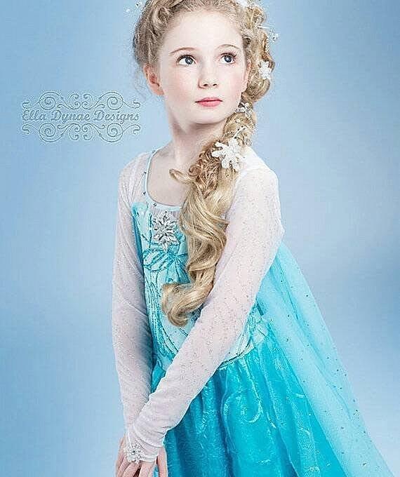 崴崴安兒童館--最新爆款冰雪奇緣frozen女童elsa公主裝洋裝兒童雪花女王披風紗裙萬聖節耶誕過年生日最佳禮品