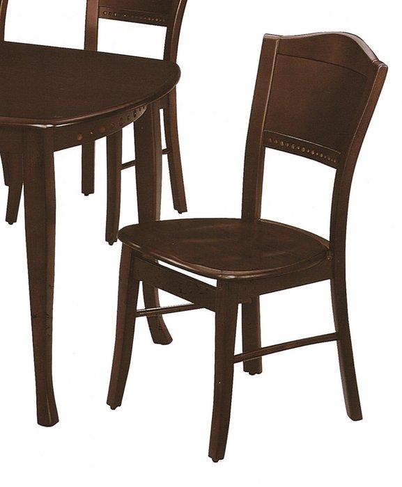 【宏興HOME BRISK】胡桃色皇冠餐椅(板面),《HN新品15》