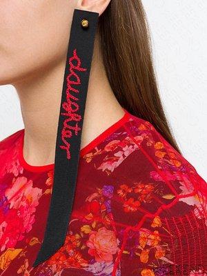 【WEEKEND】 PREEN BY THORNTON BREGAZZI Daughter 大尺寸 織帶 單只 耳環