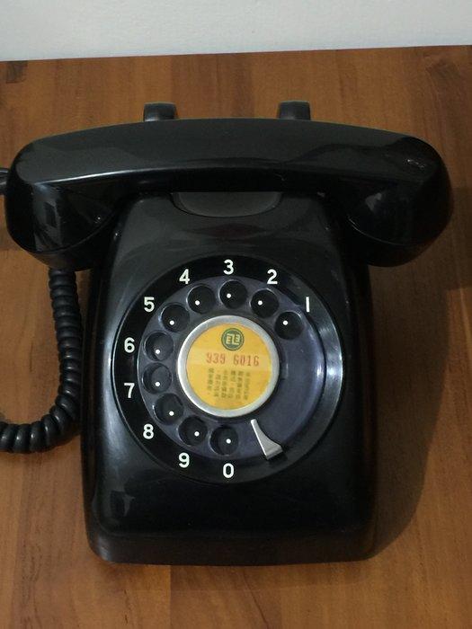古董 電話機 轉盤式 電話機 撥盤式 家用有線電話 黑色 (600型)可以正常使用