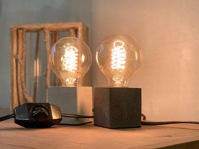 【曙muse】極簡水泥塊桌燈 可調光 原木質感桌燈 造型檯燈 Loft 工業風 居家必選款 咖啡廳 民宿 餐廳