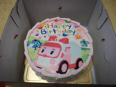 六吋 安寶 生日 相片 卡通  造型  蛋糕