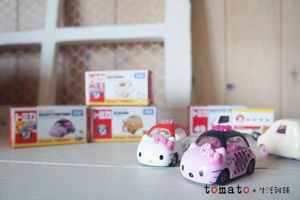 ˙TOMATO生活雜鋪˙日本進口雜貨TOMIKA多美hello kitty蝴蝶結小車