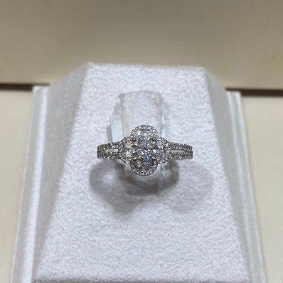 總重1.04克拉天然鑽石戒指,HOF經典款式設計,鑽石白火光閃,主鑽54分八心八箭完美車工,鑽石等級高!豪華配鑽經典設計款,超值優惠價75800元