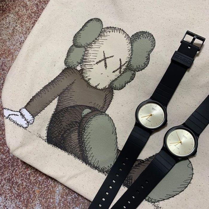 【Luxury】CASIO 卡西歐 黑底金針 MQ-24 簡約風 基本防水 男女可戴 情侶錶 韓國代購 正品