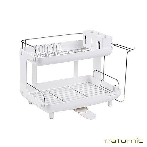 [福利品]【韓國Naturnic】雙層瀝水架 碗架 水槽瀝水 杯架