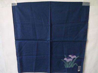 日本藍染刺繡方巾2